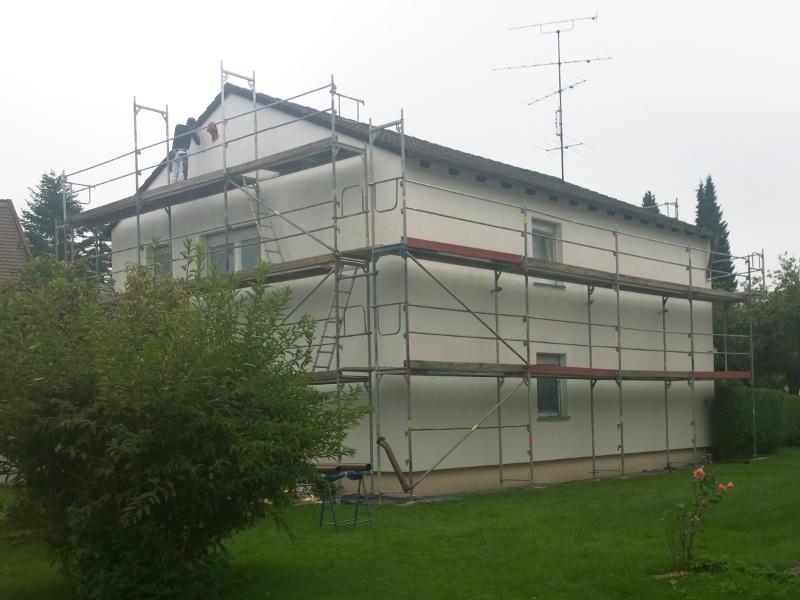 Gerüst für Fassadenanstrich